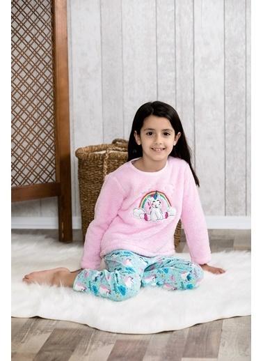 Lingabooms Wellsoft Önü Nakışlı Unicorn 2'li Çocuk Pijama Takım  Pembe